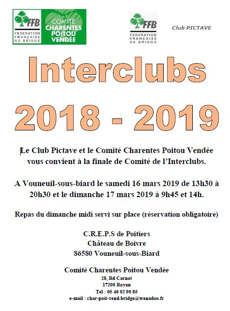 Plaquette Interclubs 20181120